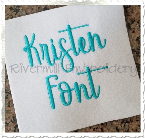 Kristen Machine Embroidery Alphabet Font Designs BX Files