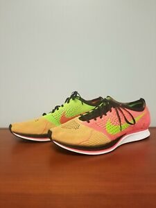 newest d2ba4 55783 Image is loading Nike-Flyknit-Racer-Hyper-Punch-526628-603-Size-