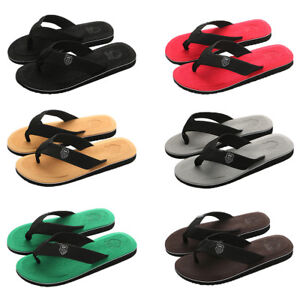 32055de9513ffa Men s Flip Flops Beach Sandals Lightweight EVA Sole Comfort Thongs ...