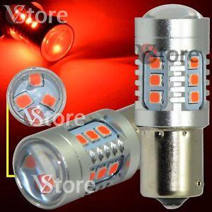 2X-LAMPADA-LED-Stop-Freni-BA15S-1156-P21-5W-15-SMD-2835-CAMBUS-Rosso-No-Errore