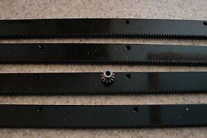 CNC-Plasma-table-mech-Rack-amp-Gear-96-034-Rack-4x24-034-pcs-amp-a-12T-1-4-034-pinion-gear