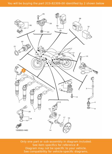 Yamaha Yzf R6 06 10 Ignition Wiring Sub Loom 2c0 82309 00 For Sale Online Ebay
