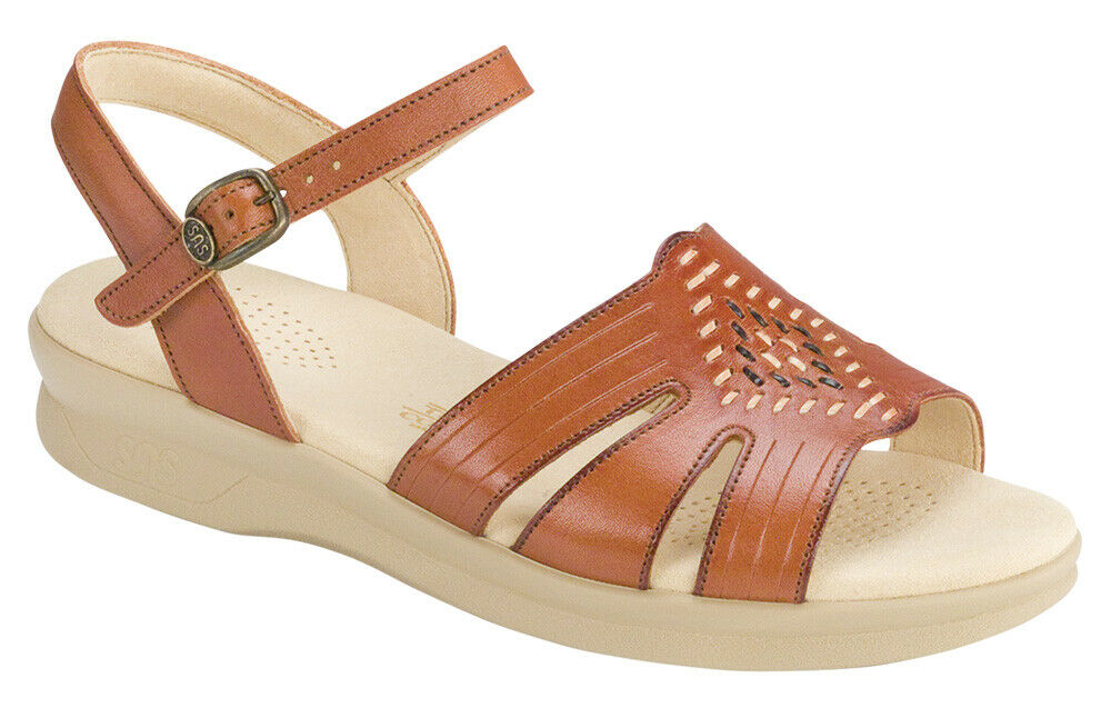 SAS Women's shoes Huarache Sandal Antique Tan 8 WW Double Wide FREE SHIPPING New