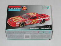 Monogram Mcdonald's Thunderbird Open Box Sealed Parts