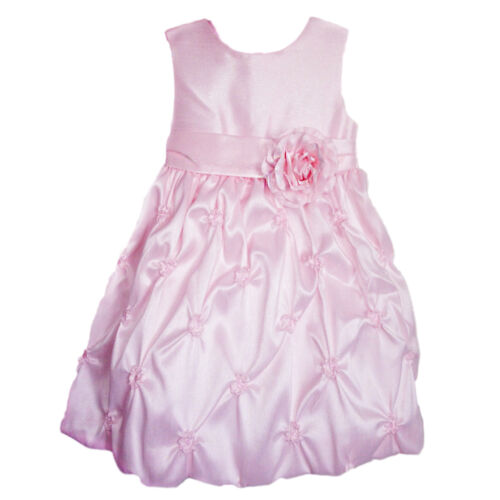 American Princess Girl Ice Pink Flower Spring Summer Wedding Party Dress 2T New