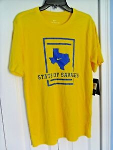 Cheap Nike Dri Fit Texas State of Savages Dallas Cowboys Shirt YellowBlue  free shipping