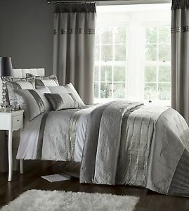 Image Is Loading Silver Grey Luxury Duvet Quilt Cover Bedding Bed