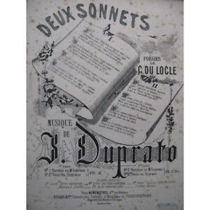 Musikinstrumente Antiquarische Noten/songbooks FleißIg Duprato Jules Sonnet Chant Piano Ca1865 Partitur Sheet Music Score