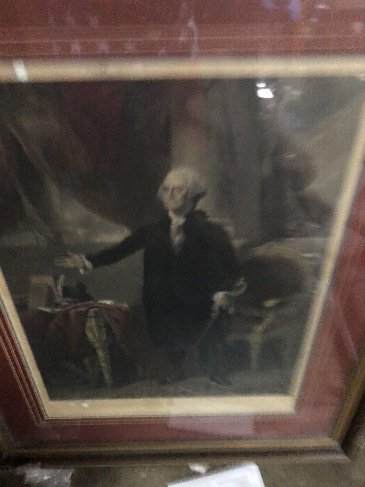 Henry Sadd Engraving of George Washington 1844 Beautiful American History on eBay thumbnail