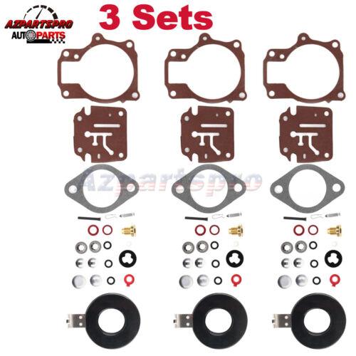 3x Carburetor Rebuild Repair Kit For Johnson Evinrude 55hp 60hp 65hp 70hp 75hp