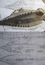 DISNEYS NAUTILUS SUBMARINE EXTRA LARGE  PAPER PLAN 20,000 leagus under the sea