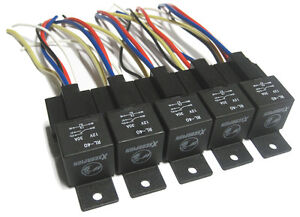 5pk 12v 40a spdt bosch style relays 5 wire wiring. Black Bedroom Furniture Sets. Home Design Ideas