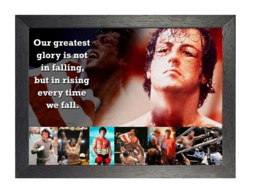 Rocky Balboa 53 Motivation Stallone Poster Photo Quote Boxer Fight Ring Sport