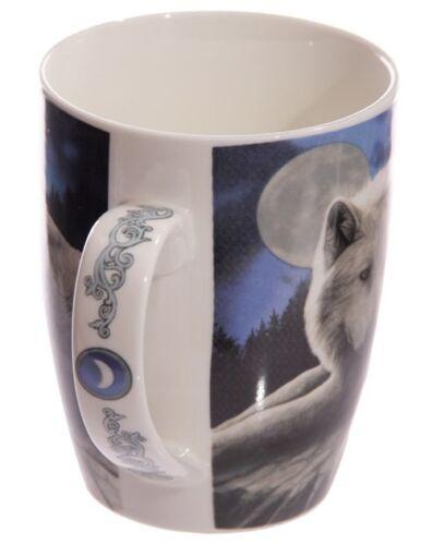 Tasse Schneewolf Wolf Wächter des Nordens Kaffeebecher Becher Teebecher Fantasy