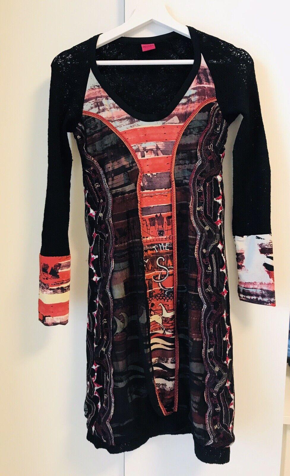 Damen Kleid, SAVE THE QUEEN, , Schwarz Rot, Gr.36, Wie NEU