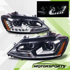 [LED DRL] 2011 2012 2013 2014 2015 2016 2017 VW Jetta MK6 Projector Headlights