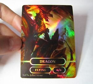 image about Mtg Printable Proxies named Information relating to Dragon Token 6/6 -FOIL- Custom made Option Artwork Proxy Magic the Accumulating MTG Card