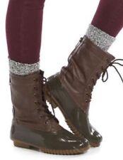 Newcin Box Madden Girl Flurry Women's Duck Boot  Brown/Olive Size 8 Reg $79.99