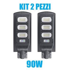 KIT-2-PEZZI-LAMPIONE-STRADALE-LED-90-W-PANNELLO-SOLARE-FOTOVOLTAICO-JD1940-CON-T