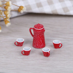 5Pcs-1-12-Dollhouse-miniature-red-kettle-cup-DIY-dollhouse-kitchen-accessoriRSDE