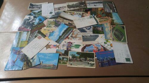 Postcard Random Lot Of 40 Postcards Vintage 1900 To 1990