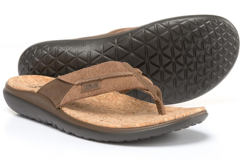 Teva  Terra-Float Flip Lux Men's Leather Sport Sandals  90 NIB