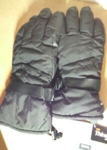 NEW-mens-black-thermal-thick-sports-gloves-thinsulate-lining-size-9-0