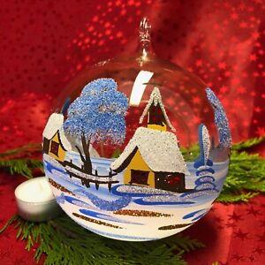 Kugel-Windlicht mit Öse ohne Ständer Weihnachten Deko Teelicht Glaskunst Lauscha