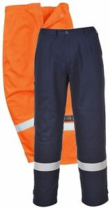 6350b0496f71 Portwest FR26 Bizflame Pro orange or navy flame resistant trousers S ...