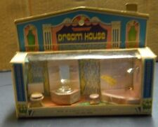 "VINTAGE ""BLUE BOX"" DREAM HOUSE PINK BATHROOM FIXTURES UNOPENED DOLL FURNITURE"