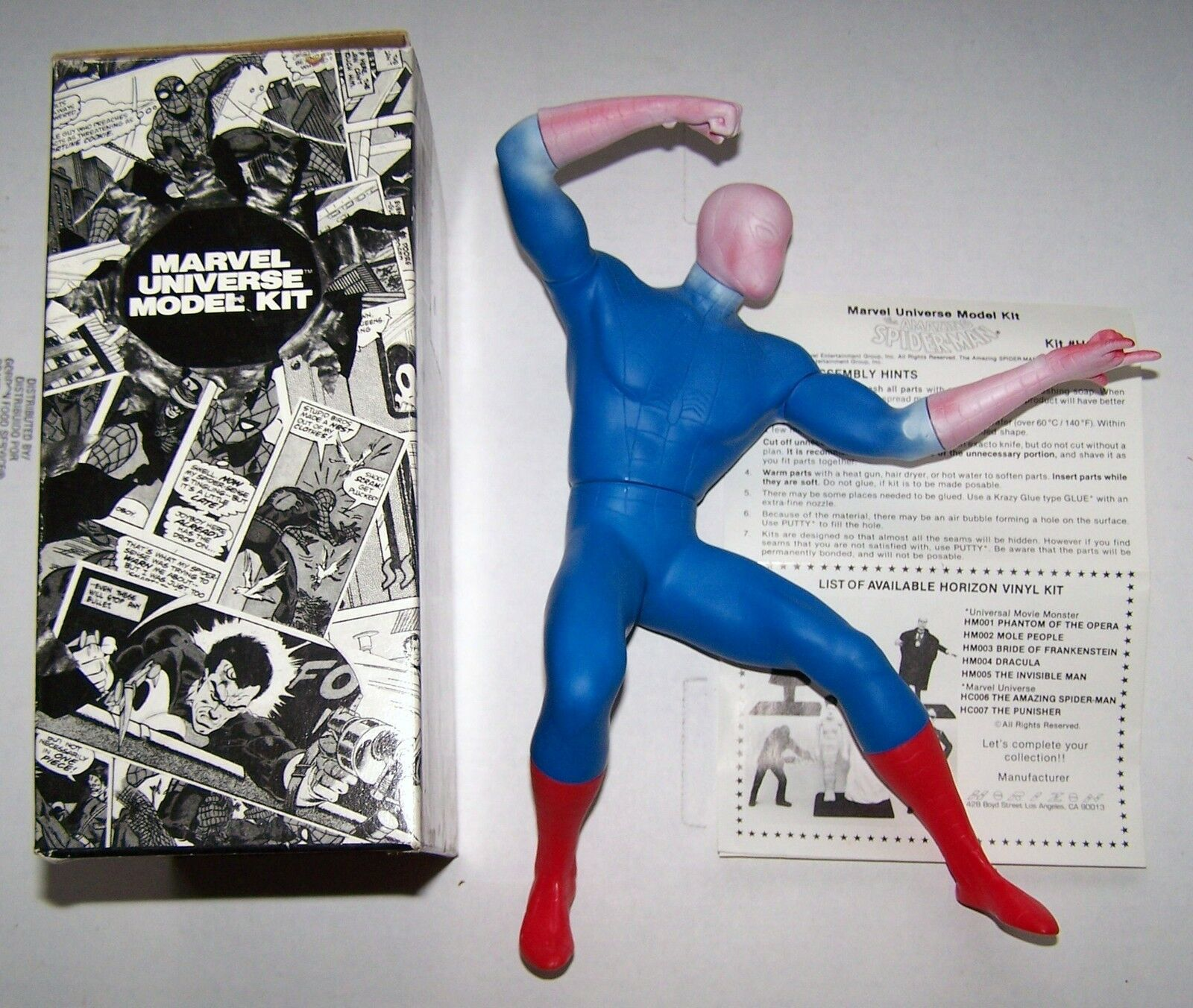 The Amazing Spider-man Vinyl model --by Horizon-opened partij Built --Zelden
