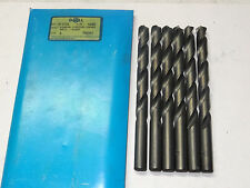 "6 pcs GREENFIELD 3//8/"" Jobber Length HSS Twist Drill Bits Oxide 135 PT Heavy Duty"