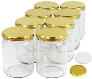 450 ml Einweckgläser mit Deckel 82 Einmachgläser Vorratsgläser Einmachglas Weck