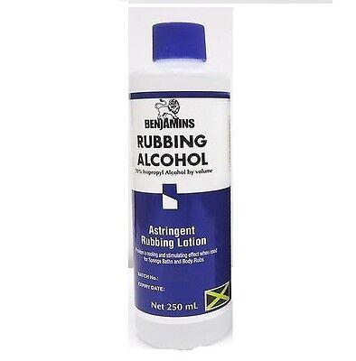 Benjamins Rubbing Alcohol- 70% Isopropyl Alcohol 250ml