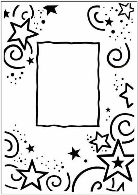 Stars Embossing Folder Border Frame Crafts Too Folders CFD3031 Graduation
