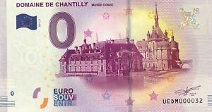 BILLET-0-ZERO-EURO-SOUVENIR-DOMAINE-DE-CHANTILLY-2017-PETIT-N-032