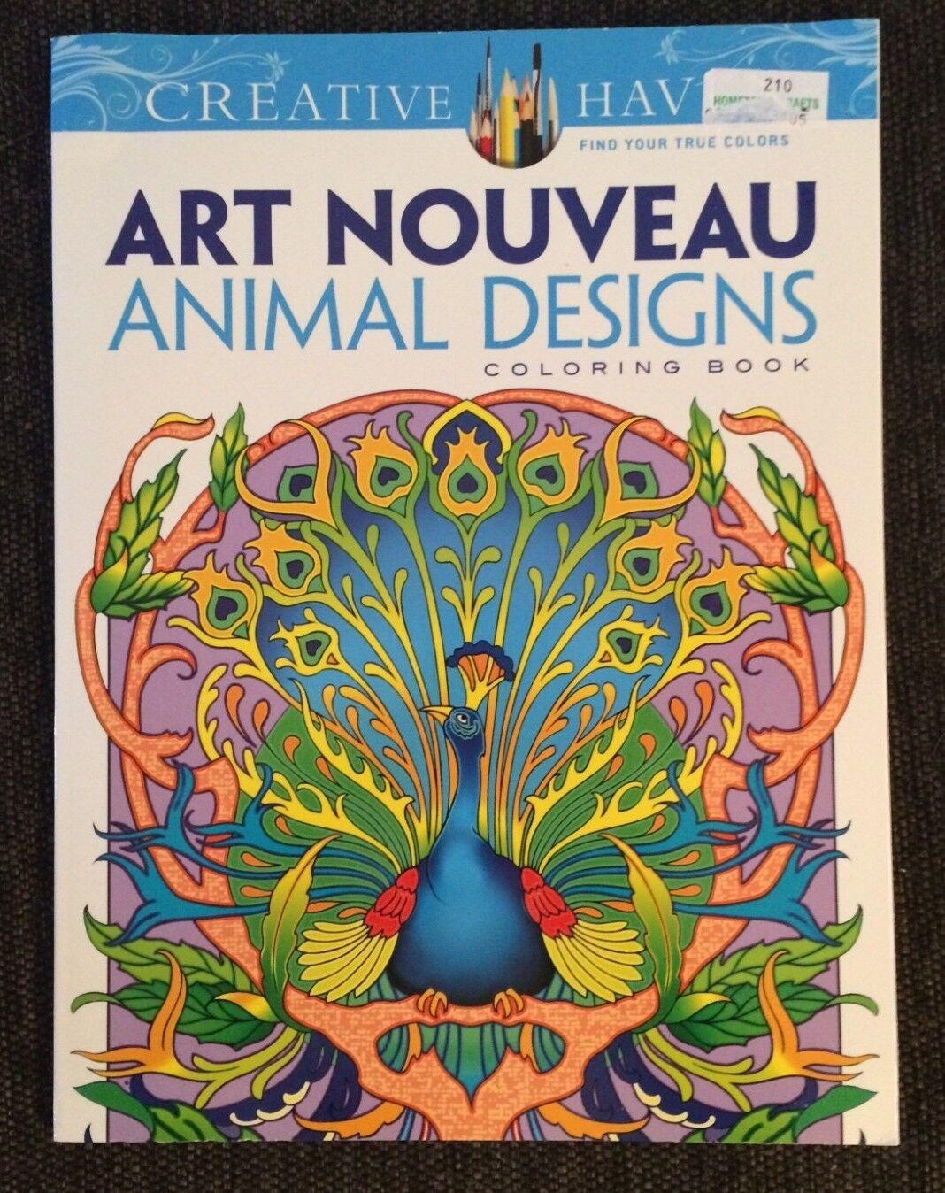 - Creative Haven Coloring Bks.: Creative Haven Art Nouveau Animal