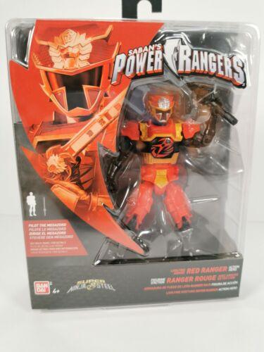 Red Ranger SABAN/'S Power Rangers Super Ninja Acciaio Action Figure Toys Bandai