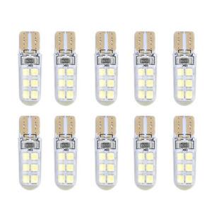 10x Xenon T10 W5W 12SMD 2835 LED Canbus Error Free Silica Light Bulb White 6000K