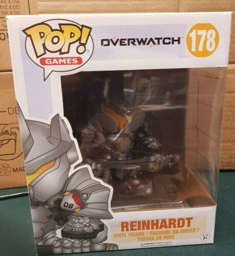 """Funko Pop Pop Games Overwatch Reinhardt 6/"""" Super-sized 6 inch #178"""