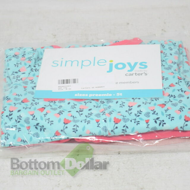 6-9M Simple Joys by Carter/'s Baby Boy/'s 2-Pack Cotton Footless Sleep /& Play
