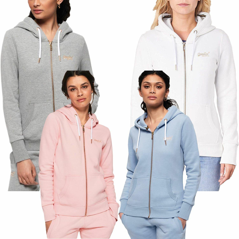 Superdry Women's orange Label Elite Zip Front Hoodie