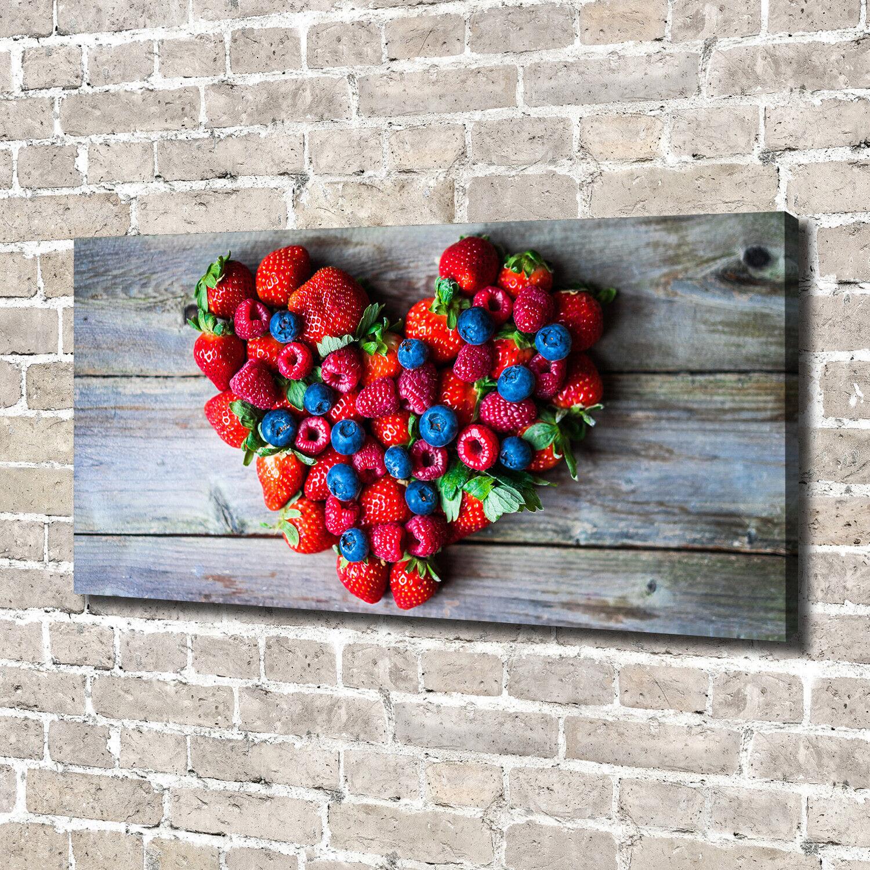 Leinwandbild Kunst-Druck 140x70 Bilder Essen & Getränke Früchte Herz