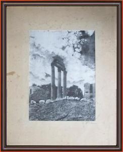serigrafia metà 900 Roma Tempio di Vesta firmata Giuseppe Mario D'Amico