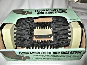 Boot Brush Cleaner Floor Mount Scraper Commercial With Hardware Indoor Outdoor