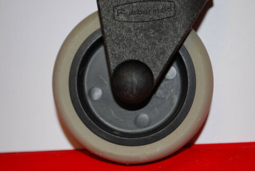 "Wheels #S6376 RUBBERMAID QUIKLEEN Non-Marking 3/"" Mop Bucket Casters Set of 4"