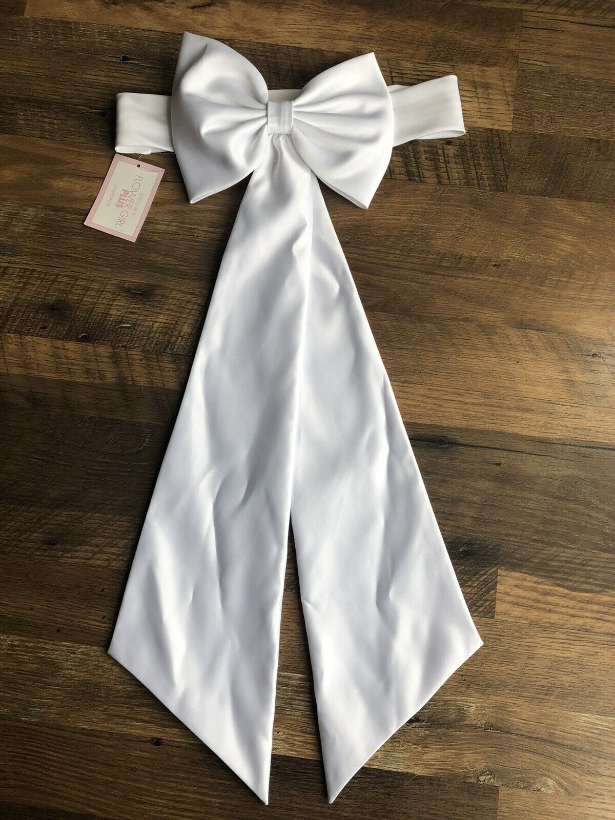 White Flower Girl Plus Comfort Fit Bow Communion Brand New With Tags Size 10