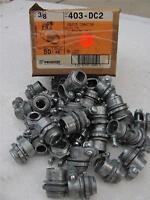 """T&B 3/8"""" SQUEEZE CONNECTOR FOR ARMORED CABLE 403-DC2 10PCS( BIN33)"""