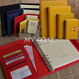 3-Size-Diary-Notebook-Personal-Pocket-Organiser-Planner-PU-Leather-Filofax-Cover