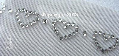 Hotfix Bügelbild Strass edle Kette aus  Rosen Shirt  Pullover Top Crystal 121129